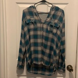 ❤️Maurices Flannel Hooded Fleece